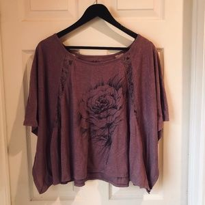 Mudd Purple Crop Top